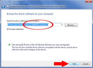 Descargar e instalar atheros qualcomm driver de wifi para windows.